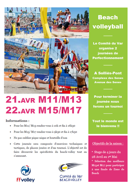 Les Actions de Beach Volley au Printemps